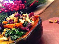 Jewel Stuffed Acorn Squash! Gluten Free, Vegan, Specific Carb Diet Friendly, SCD & Paleo! glutenfreehappytummy http://glutenfreehappytummy.blogspot.com/2014/12/jewel-stuffed-acorn-squash-gf-v-scd.html #yummy #healthy #whole30 #paleo #glutenfree #vegetarian #recipes