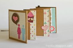 Mini Álbum by Fran - Dia dos Namorados #minialbum #scrapbook #valentinesday