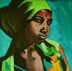 By Georgia Lobo , Odete  50 X 50 óleo sobre tela / oil on canvas