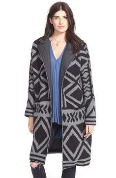 Free People 'Bold Geo' Sweater Coat available at #Nordstrom
