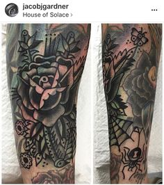 Black and gray blastover tattoo by Rose Tattoos, Flower Tattoos, Black Tattoos, Piercing Tattoo, Piercings, Blast Over Tattoo, Epic Tattoo, Tattoo Art, Blackout Tattoo