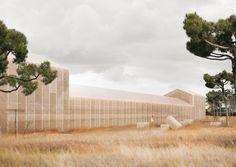 Image 1 of 10 from gallery of Georges Batzios Architects Propose Cultural Center Made Entirely of Straw. Courtesy of Georges Batzios Architects Vernacular Architecture, Green Architecture, Historical Architecture, School Architecture, Landscape Architecture, Great Buildings And Structures, Modern Buildings, Architect Magazine, Dubai Skyscraper