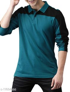 Checkout this latest Tshirts Product Name: *EYEBOGLER 100% Cotton Regular Fit  Polo Neck Full Sleeve Men's T-Shirt* Fabric: Cotton Sleeve Length: Long Sleeves Pattern: Printed Multipack: 1 Sizes: S, M, L, XL Country of Origin: India Easy Returns Available In Case Of Any Issue   Catalog Rating: ★4 (231)  Catalog Name: Classic Fashionable Men Tshirts CatalogID_2202957 C70-SC1205 Code: 583-11664666-339