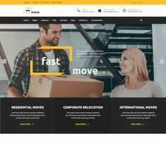 WeMove - ModelTheme Moving House, Website Themes, Wordpress Theme, How To Plan, Wordpress Template