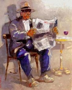 Reading and Art - André Deymonaz Reading Art, Woman Reading, Pictures Of People, Figure Painting, Oeuvre D'art, Newspaper, Books To Read, Sculptures, Illustration Art