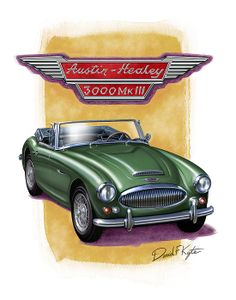 Austin Healey 3000 in British Racing Green