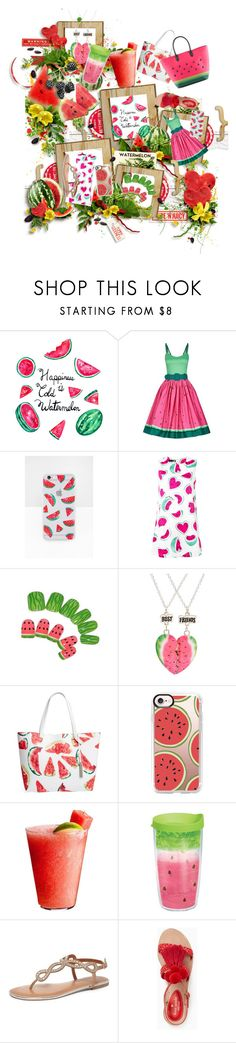 """Watermelon besties"" by iamgl2002 ❤ liked on Polyvore featuring WALL, Collectif, Sonix, Love Moschino, claire's, Vince Camuto, Cato, Casetify, Disney and Dorothy Perkins"