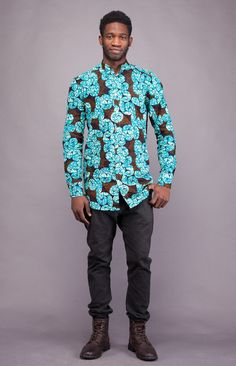 www.cewax aime les vêtements hommes ethniques, Afro tendance, Ethno tribal Men's fashion, african prints fashion - Sika Shirt