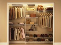 very condensed version for master closet