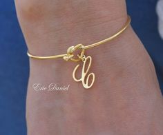 Personalized Love Knot Bangle Choose Your by EricDanielDesigns, $35.00 one for each child