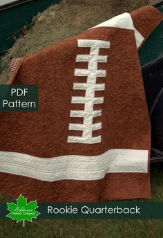 Football Quilt for Justin's Football Room! LOVE THIS!!