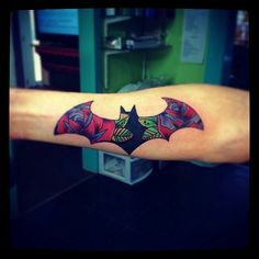 Tropical Batman Tattoo