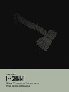 The Shining (a Pinterest favourite of ours for alternative posters) minimalist movie poster - collected for www.thecautioustrain.blogspot.com