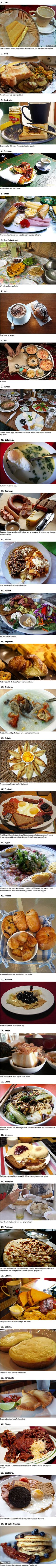 31 Breakfasts From Around The World // What about cooking everyday an international breakfast? #awesome #breakfast #international