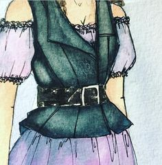 "Costume sketch by Lex Liang for ""Shakespeare in Love"" at Cleveland Play House #CPHShakesInLove"