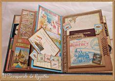 El Scraparate de Alagaina: Travel Book o... Nos vamos de viaje!!!!