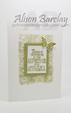 Gothdove Designs - Alison Barclay - Stampin' Up! Australia - Stampin' Up! Butterfly Basics #stampinup #colorcoach #gothdovedesigns #stampinupaustralia #quotes #butterfly