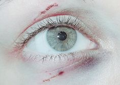 Eye wounds which appear simple and realistic as opposed to a large creation showing off more creative skills. I need to create some more realistic images as this is what I believe will gain me more work than the more creative images within my portfolio.