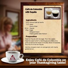 Another way to enjoy our Colombian coffee! Grind Cafe, Colombian Coffee, Tea Drinks, My Coffee, Drinking Tea, Whipped Cream, Tequila, Palace, Let It Be