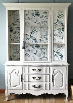 Most Beautiful Antique China Cabinet Makeover New Simple Diy Furniture Makeover And Transformation Homedecor Refurbished Furniture, Repurposed Furniture, Shabby Chic Furniture, Furniture Makeover, Painted Furniture, Rustic Furniture, Refurbished Cabinets, Shabby Chic Hutch, Shabby Chic Salon