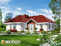 Dom w serdeczniku New House Plans, Dream House Plans, Affordable House Plans, Pintura Exterior, Modern Bungalow House, Good House, Design Case, House Front, Home Fashion