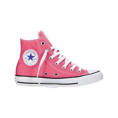 Converse Chuck Taylor All Star High Top Sneaker - Pink Paper Casual... ($40) ❤ liked on Polyvore featuring shoes, sneakers, casual footwear, casual shoes, pink, pink high tops, pink trainers, star sneakers, pink shoes and converse trainers