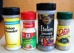 homemade-seasonings recipes from Living on a dime.