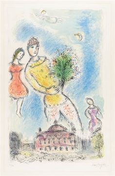 Marc Chagall DANS LE CIEL DE L'OPERA (In the Sky of the Opera), 1980