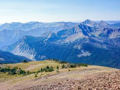 View of the area at Avalanche Peak Hike in Yellowstone National Park