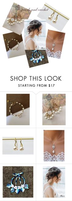 """""""pearls and crochet"""" by mabellerosedesigns ❤ liked on Polyvore"""
