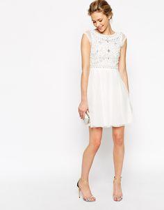Image 4 ofFrock and Frill Embellished Top Skater Dress