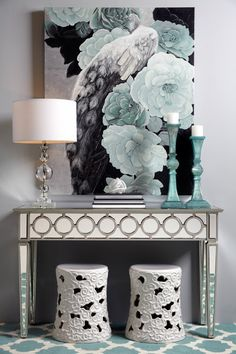Worlds Away Peabody Mirrored Console from GlamFurniture.com - $1286.00