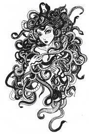 This is a drawing that I finalized based on a quick sketch I did exploring the possibilites of the medusa character. Medusa Kunst, Medusa Art, Medusa Gorgon, Medusa Tattoo, Medusa Pictures, Greek Monsters, Feminine Symbols, Beautiful Snakes, Science Fiction
