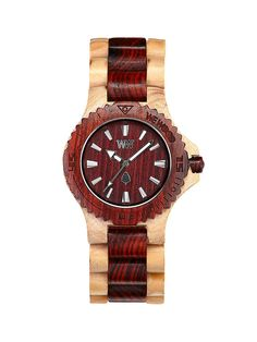 Wood Watch in Beige/Brown.