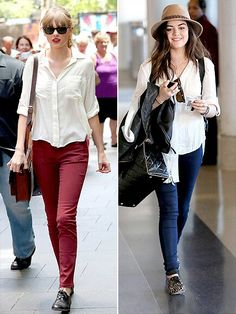 Taylor swift and Lucy Hale Style war. Who wore it better?