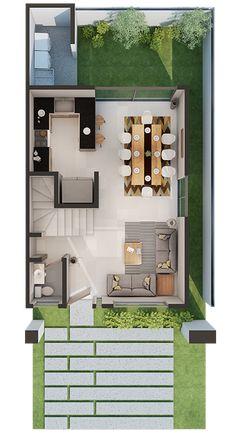 House design - Best home modern small layout ideas Sims House Plans, House Layout Plans, Duplex House Plans, Small House Plans, House Layouts, House Floor Plans, Simple House Design, Tiny House Design, Modern House Design