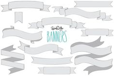 Banners - Vector & PNG by Rachel White Art on @creativemarket
