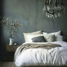 10 Experienced Tips AND Tricks: Vintage Home Decor Romantic Pink Roses vintage home decor mid century.Vintage Home Decor Diy Garage vintage home decor living room throw pillows.Vintage Home Decor Farmhouse Cabinets. Sweet Home, Home Bedroom, Bedroom Decor, Gray Bedroom, Master Bedroom, Bedroom Ideas, Bedroom Rustic, Charcoal Bedroom, Modern Bedroom