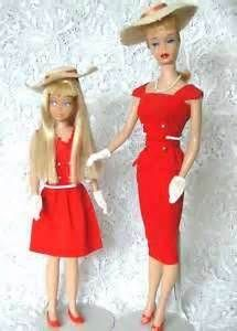 Vintage Ponytail Barbie in Sheath Sensation and Vintage Skpper in Red Sensation