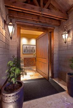 Hillcrest Farm by Design Guild Homes transitional entry Contemporary Kitchen Cabinets, Contemporary Doors, Rustic Entry, Rustic Doors, Pivot Doors, Entry Doors, Front Doors, Entrance Hall, Entryway