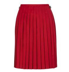 Red Pleated Kilt Skirt