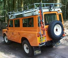 Land Rover Stage One V8... great ride, terrible colour.  orange no longer the colour of choice for mine...