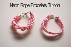 DIY Neon Rope Bracelet DIY Jewelry DIY Bracelets