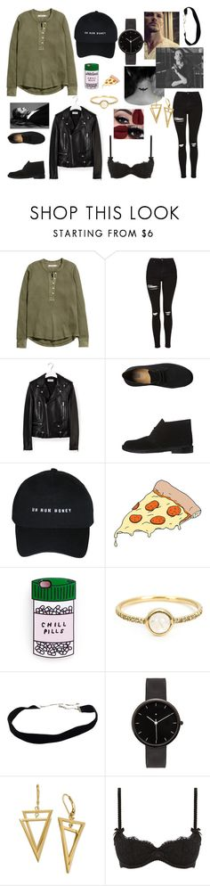 """""""Peter Hale is my spirit animal"""" by lauren5sosx ❤ liked on Polyvore featuring H&M, Topshop, Yves Saint Laurent, Clarks Originals, Tattly, Irene Neuwirth, I Love Ugly and L'Agent By Agent Provocateur"""