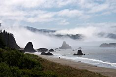 Coos Bay is surrounded by the Pacific shoreline with its beautiful dunes and lovely beaches, plan your vacation today! Oregon Beaches, Oregon Coast, Coos Bay, Travel Destinations Beach, Redwood Forest, County Park, Beach Town, Pacific Northwest, Travel Guide