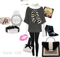 """French Kiss"" by karalexislv on Polyvore"