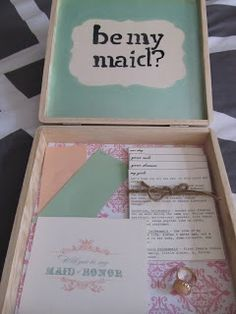 How to ask your Bridesmaids! DIY Bridesmaid Boxes