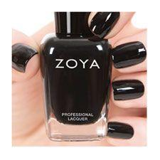 Zoya Willa. Black shiney polish