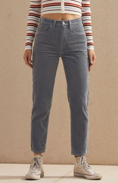 c95462863123 PacSun : PacSun-Cloudy Blue Corduroy Vintage Icon Straight Leg Jeans Cloudy  Day Outfits,