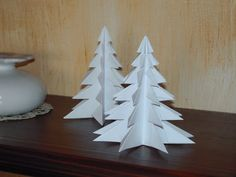 Ideas For Origami Christmas Tree Diy Paper Snowflakes Easy Origami Flower, Origami Frog, Origami Elephant, Kids Origami, Origami And Kirigami, Useful Origami, Origami Flowers, Origami Christmas Tree, Christmas Crafts